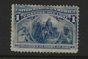 USA 1893 Columbus Exposition 1c Blue, Mint, MLH