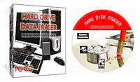 Erase Wipe Format Delete Destroy Clean Hard Drive Data PC CD Disk Eraser Cleaner