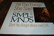"SIMPLE MINDS - Vinyle Maxi 45 tours / 12"" !!! ALL THE THINGS SHE SAID ! SP 12177"