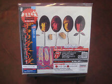 ROLLING STONES FLOWERS RARE JAPAN OBI REPLICA 2006 CD W/ LIMITED RARE STICKERS