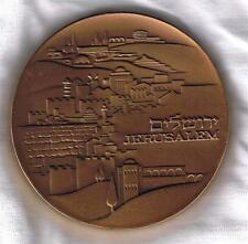 ISRAEL 1971 JERUSALEM & KNESSET STATE MEDAL 59mm 98gr BRONZE