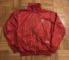 Original Vintage Adidas Chile 62 Wet Look Jacke Rot Gr. L Top