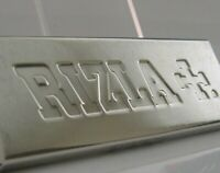 NOVELTY ENGLISH SOLID STERLING SILVER CIGARETTE PAPER RIZLA CASE 1989