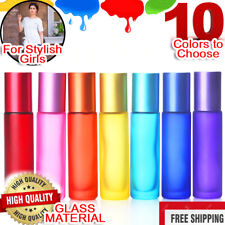 10ml Portable Refillable Glass Perfume Oil Roll-on Empty Mini Bottle Roller Ball