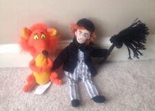 """Disney Plush Mary Poppins Character Fox & Bert Lot 7"""" Bean Bag"""