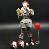 18cm NECA IT Ultimate Pennywise Clown Action Figure Movie Doll Seale in Box 1:12