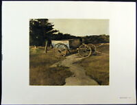 Andrew Wyeth Gravure Print BLUE DUMP & THE STALL, Cushing