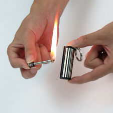 Match Flint Fire Lighter Kerosene Oil Gas Stainless Steel Keychain Camping Tool