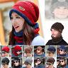 Ensemble d'écharpe et Bonnets Chapeau Hommes Femmes Doublure polaire Hiver Épais