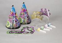 Nouvel An Fête Kit pour 4 Gens Chapeaux Tiares Bruit Fabricants Colliers