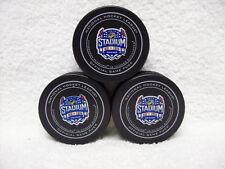 2014 NHL Stadium Series Official Game Pucks Blackhawks vs. Penguins, Lot of 3!!