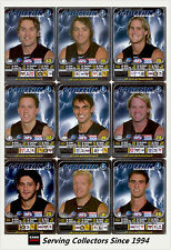 2005 AFL Teamcoach Trading Card Silver Team set Carlton (9)