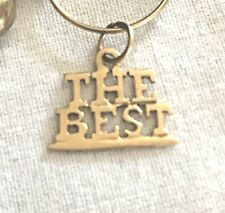 "14K YELLOW GOLD CHARM PENDANT ""THE BEST """
