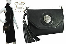 Borse Pelle Nero Leather Handbag Black Handtasche Leder Schwarz Sac a main Cuir