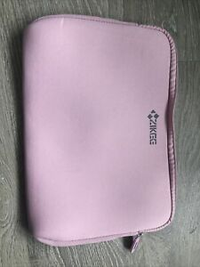 ZIKEE Pale Pink Zip Up Laptop Case. Size 34cm X 24cm Used