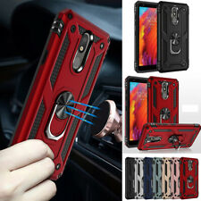 For LG K40 K50 Q60 Aristo 3 2 4 Plus Magnetic Ring Cover Shockproof Stand Case