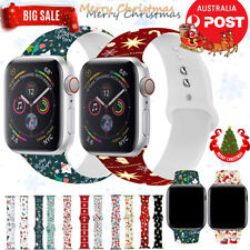 For Apple Watch Strap Band Series SE 6 5 4 3 Silicone iWatch Band Christmas Gift