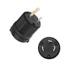 NEMA L5-30P 125V 30 amp Industrial Twist Lock Male Plug (3-Pole 3-Wire)