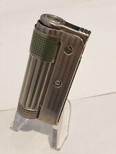 Vintage IMCO TRIPLEX Cigarette Petrol Fluid Lighter Austria Art Deco GREEN