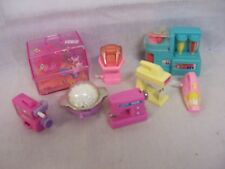 BARBIE? WIND-UP ACCESSORIES,SMOOTHIE MAKER,VIDEO RECORDER,VACUUM,HAMPTER CAGE