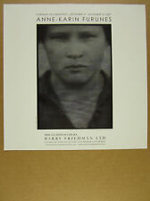 2007 Anne-Karin Furunes Portraits of Unknowns show exhibit promo print Ad