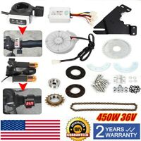 450W 36V Electric Bike Left Drive Conversion Kit Motor Bike Conversion Kit
