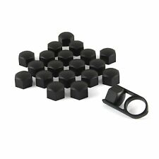 Set 20 19mm Black Car Caps Bolts Covers Wheel Nuts For Volvo XC60 XC70 XC90