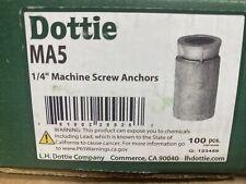 "Dottie Ma5 Machine Screw Lead Anchors 1/4"" New In Box"
