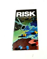 RISK Rules of Play Parker Brothers Continental Game Vtg Paper Instruction Manual