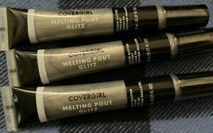 (3) COVERGIRL MELTING POUT GLITZ TOP COAT SHADE 405 DOUBLE PLATINUM 0.27 OZ
