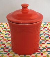 Fiestaware Poppy Jam Jar Fiesta Orange Kitchen Utility Jar