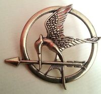 Hunger Games Badge Mocking Jay Bird Pin Bird Brooch Bronze Effect UK STORE