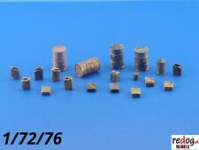 Redog 1:72 - Barrels and Jerry Cans for Scale Model Stowage Cargo kit Diorama 3