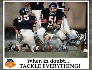 NFL Dick Butkus Chicago Bears Color Game Action 8 X 10 Photo Picture