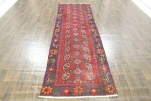 Traditional Vintage Wool Handmade Rugs Oriental Rug Carpet 310x95cm