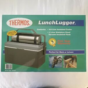 THERMOS Lunch Lugger Insulated Cooler with 1L Vacuum Insulated Flask Combo