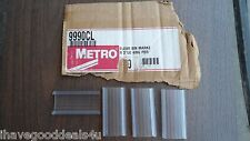 "Metro Clear Plastic Shelving Label Holder 3"" x 1 1/4"" Lot Of 8"