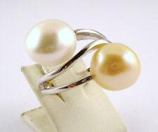 Elaine Ferrari Biwa Anello di Perline Oro Bianco 585 14kt (LP Perla Biwaperle