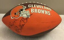 Cleveland Browns Dawg Pound 10th Anniversary Football Signed Auto Bubba Baker
