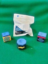 4 Pieces of Premium Pool Cue Chalk COMBO - KAMUI , BLUE DIAMOND , PREDATOR , NIR