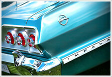 13x19 1963 Chevrolet Impala Photo Art Print Garage Chevy '63 SS Azure Aqua 327
