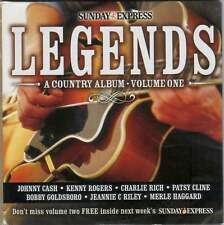 LEGENDS: A COUNTRY ALBUM - PROMO 2 CD SET: JOHNNY CASH, KENNY ROGERS ETC