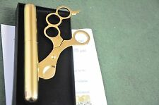 24K Gold Plated Metal Cohiba Cigar Case And Cohiba Cutter Scissors  Gift Box