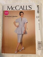 New McCalls Sewing Pattern M7190 Archive Collection 1953 Petite size 6 to 14