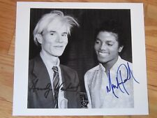 Andy Warhol Michael Jackson Mint Rare Autographed Signed 8x10