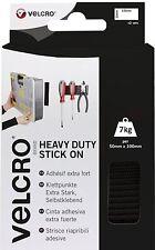 VELCRO® Brand Heavy Duty Stick On Strips - Black - 50mm x 100mm