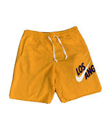Nike Los Angeles Lakers Alumni Fleece Sweat Shorts Size Large CQ7220-739