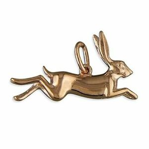 Sterling Silver Pendant Rose Gold-Plated Leaping Hare