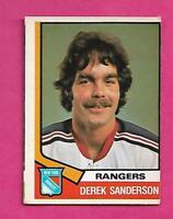 1974-75 OPC # 290 RANGERS DEREK SANDERSON EX CARD (INV# C0057)