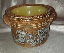 Hand Crafted Greenfield Village Brown Blue Pottery Dip Chiller by John Ahearn